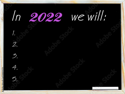 Poster In 2022 we will