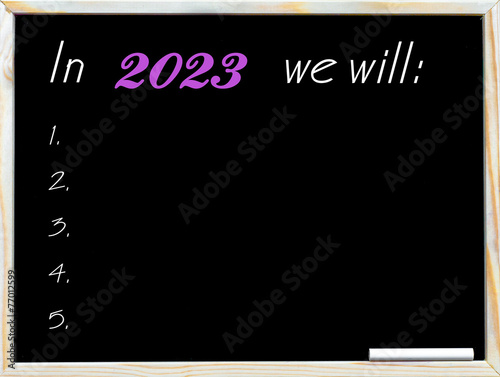 Poster In 2023 we will