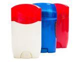 Fototapety Three tube of deodorant.