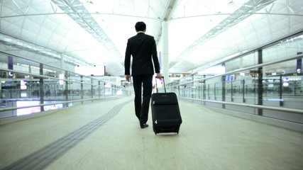 City Airport Departure Hall Business Finance Asian Chinese Businessman