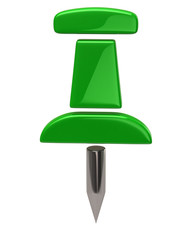 Green thumbtack icon