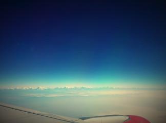 Himalayas range like horizontal lines