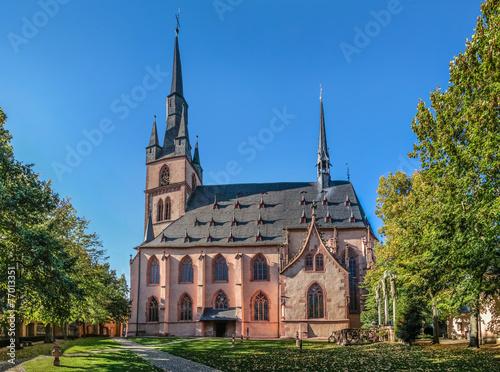 Leinwanddruck Bild Katholische Pfarrkirche St. Valentinus (Kiedrich)