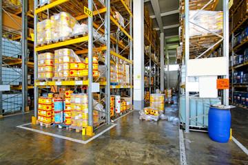Flammable warehouse
