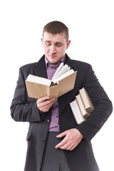 student with books in their hands