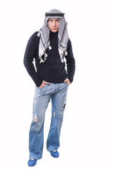 young guy in a keffiyeh