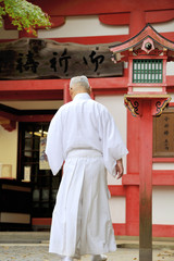 Monk at Fushimi Inari Taisha Shrine