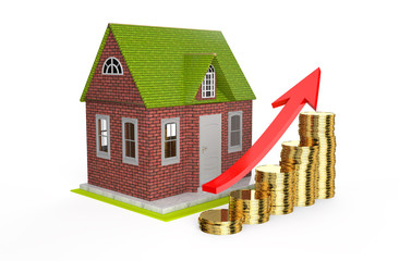 growth house prices concept
