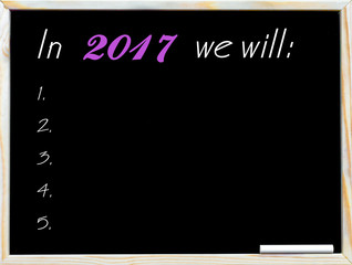 In 2017 we will