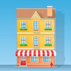 House shop flat illustration