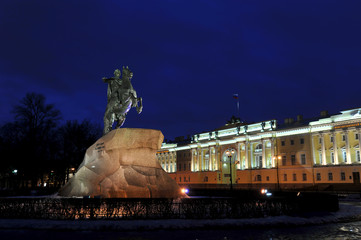 bronze statue of Peter the great on a horse - the bronze horsema