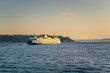Ferry to Bainbridge Island at Sunset - 77016977