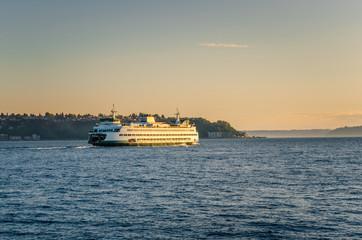 Ferry to Bainbridge Island at Sunset