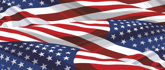 Background of the flag of America