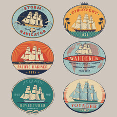 Nautical labels color
