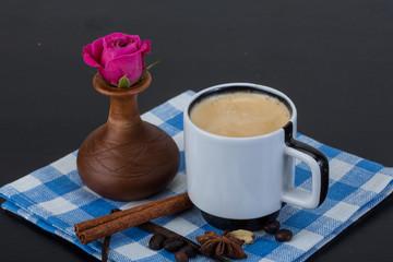Espresso with rose