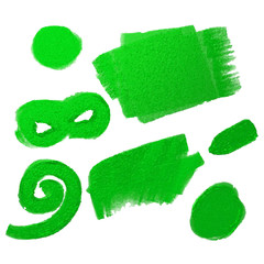 green oil paint