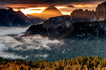Morning in Dolomites