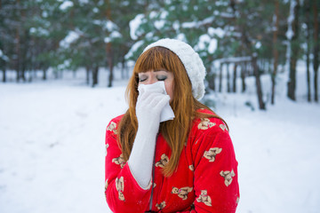 angina winter, runny nose in the winter season