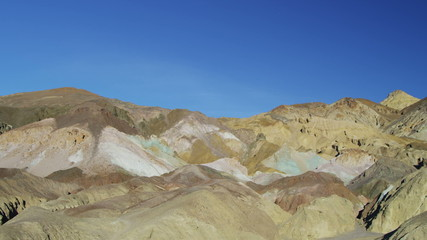Death Valley panning desert Artists Point low elevation, California, Mojave, USA