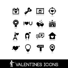 Valentine's Day Icons Set 8