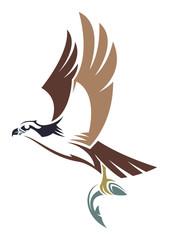Stylized Bird - Osprey