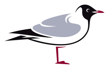 Stylized Bird - Andean Gull