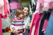 mother and daughter chooses wear