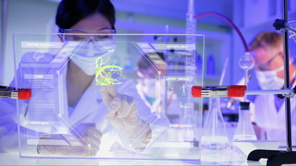 Medical Scientific Research Asian Female Doctor Online Graphics Human Brain CG