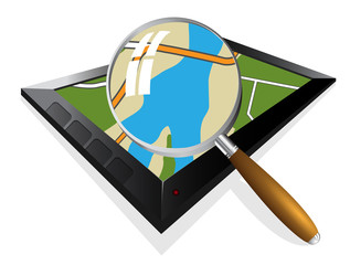 search in the gps navigation