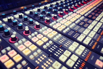 Professional audio mixing console radio / TV broadcasting