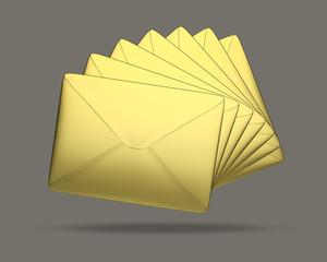 Briefe Gold dunkeler Hintergrund