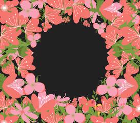 Vintage Flowers Negative Copyspace Background