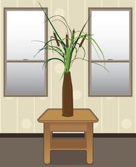 Cattails in a vase