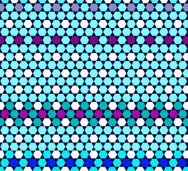 mosaic flower  tiles texture on blue background