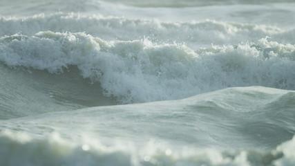 Blue Ocean Waves White Surf Full Frame