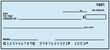 Leinwanddruck Bild - Blank Personal Check