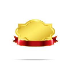Premium Gold badge tag banner 002