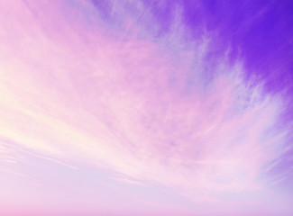 Purple sky background with clouds