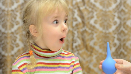 Little Girl Reaction to the Enema Procedure