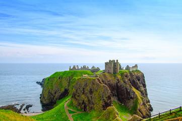 Dunnottar scottish medieval fortress or castle. Highlands of Sco