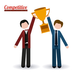 Competition design, vector illustration.