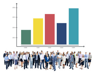 Bar Graph Growth Success Business Chart Concept