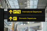 Fototapety Airport Departure & Arrival information board sign