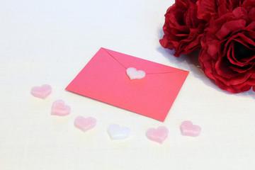 バレンタイン ハートと手紙