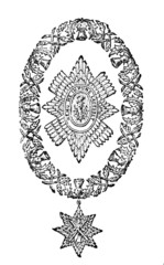 Victorian engraving of the St. Andrew's Cross