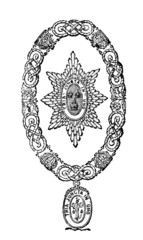 Victorian engraving of the Order of the Bath