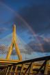 Zakim Bridge under a rainbow