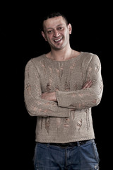Smiling man portrait with crossed arms