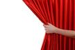 Leinwanddruck Bild - Red Curtain on white background